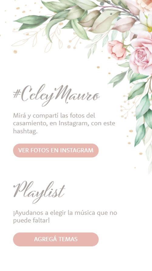 invitacion digital virtual instagram hashtag