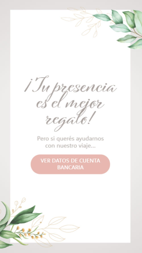 invitacion digital virtual lista de regalos buzon cuenta bancaria