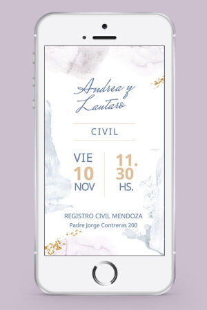 invitacion civil whatsapp