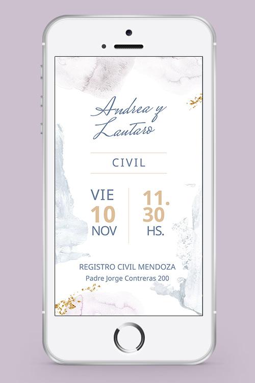 invitacion civil whatsapp