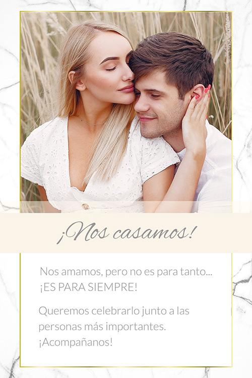 invitacion virtual casamiento