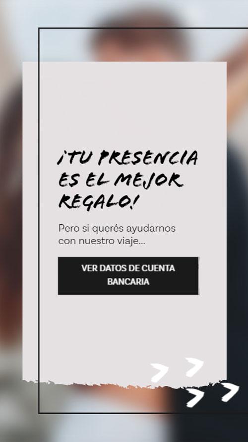 invitacion digital virtual casamiento lista regalo buzon cuenta bancaria